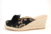Wedge Espadrilles Mules - black in small sizes