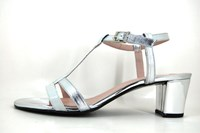 Edgy Couture sandals white silver in small sizes