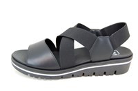 Black super high wedge sandals in large sizes