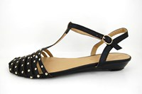 Summer sandals with studs in large sizes