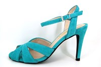 Sexy turquoise sandals high heels in large sizes