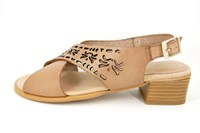 Beige Women's Sandals in large sizes