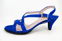 Mid heel sandals - cobalt blue in large sizes