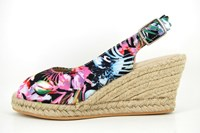Espadrilles wedges - floral design in large sizes