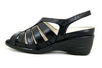Black comfortable sandals in small sizes