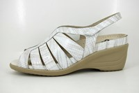 White comfortable sandals in small sizes