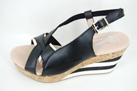 Luxury wedges - black in large sizes