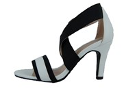 Flirty sandals - black white in large sizes