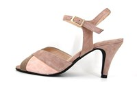 Elegant sandals - pink beige in small sizes