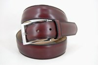 Burgundy leather belt in  sizes