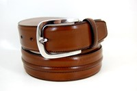 Luxury leather belt - brown