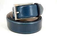Luxury leather belt - blue
