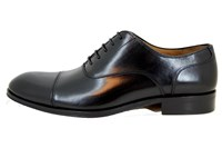Elegant men's shoes - black in small sizes