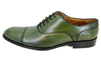 Elegant men's shoes - green in small sizes