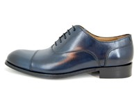 Elegant men's shoes - blue in small sizes