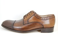 Derby lace up shoes - brown in large sizes