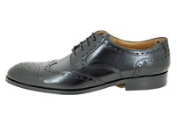 Derby brogue  men's shoes - black in small sizes