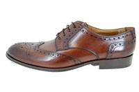 Derby brogue men's shoes - brown in small sizes