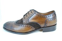 Brogue shoes - brown beige