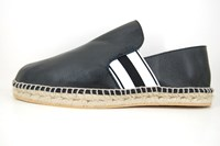 Mens leather espadrilles - black in small sizes