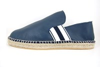 Mens leather espadrilles - blue in small sizes