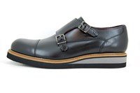 Sturdy dressed buckle shoes - zwart in large sizes