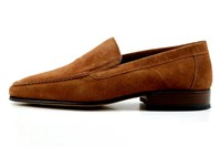 Brown men's loafers in small sizes