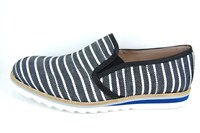 Summer mens loafers - black white in small sizes