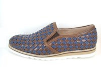 Mens loafers - blue brown in small sizes