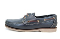 Stravers Boat Shoes - blue in large sizes