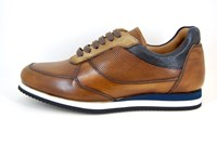 Unique Luxury Dress Sneakers Men - brown in small sizes