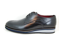 Casual brogue shoes - black in small sizes