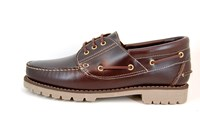 Stravers Boat Shoes with Profile Sole - brown in large sizes