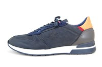 Luxury Leather Sneakers - Blue in large sizes
