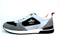 Luxury Leather Sneakers - grey in large sizes