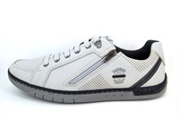 Comfortable Sneakers with Zipper Men - white
