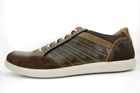 Brown leather mens sneakers in large sizes