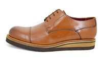 Dressed sportive sole - brown in large sizes