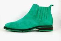 Green Chelsea mens boots in small sizes