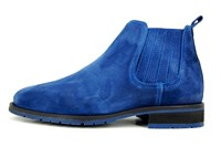 Blue men's Chelsea boots in large sizes
