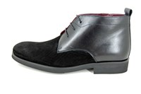 Black halfhigh mens shoes in large sizes