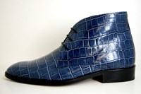 Blue Croco men's shoes