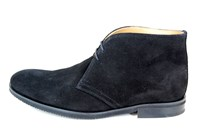 Black suede desert boots mens in large sizes