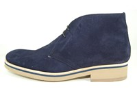 Desert boots mens - blue suede in small sizes