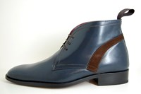 Exclusive blue men's shoes in large sizes