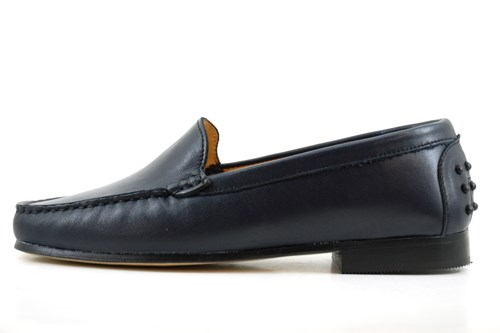 Stravers black Italian mocassins