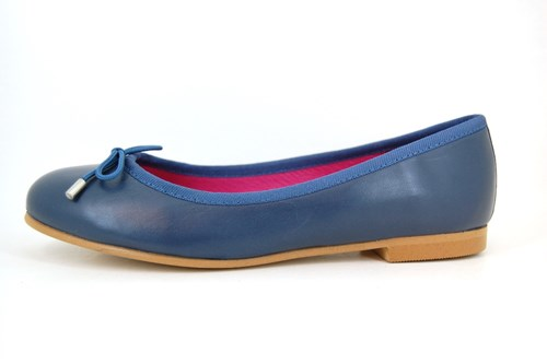 Soft blue leather ballerinas