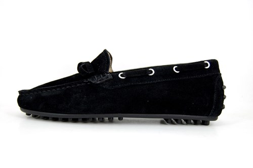 Stravers black mocassins ladies