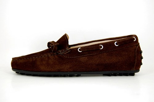Stravers brown italian mocassins ladies