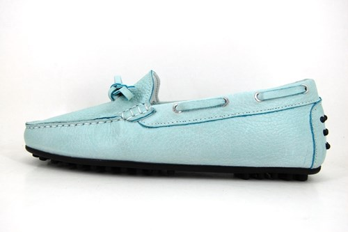 Stravers blue mocassins ladies